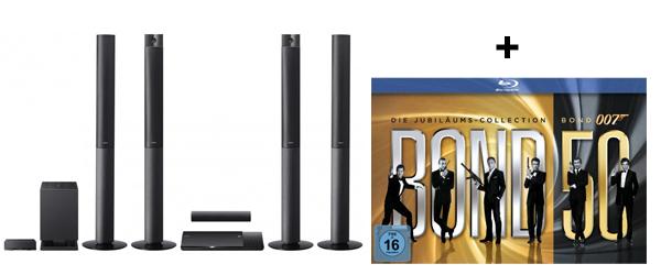 3D Blu-ray-Heimkinosystem Sony BDV-N990W + James Bond Jubiläums-Collection (Blu-ray) für 590 €