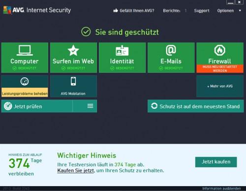 AVG Internet Security 2014 & Antivirus Pro 2014 ein Jahr lang gratis