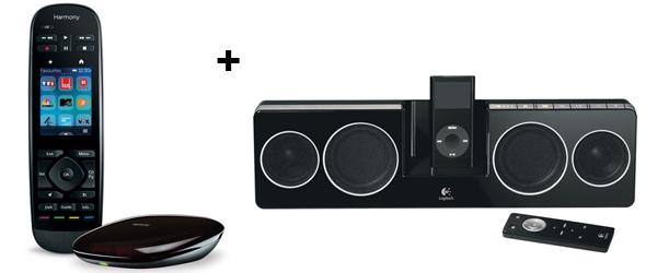 Logitech Harmony Ultimate + Lautsprechersystem Pure-Fi Anywhere 2 für 219 € - 22% sparen