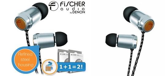 2er-Pack In-Ear-Ohrhörer Fischer Audio Silver Bullet für 45,90 € - 41% sparen