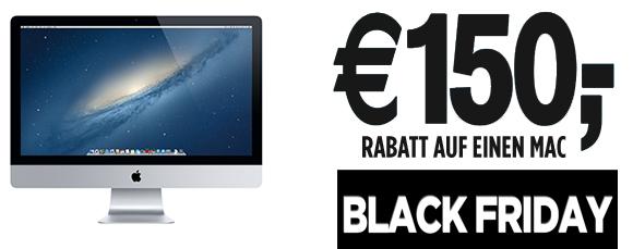 Black Friday: 150 € Sofortrabatt auf ausgewählte Macs bei MacTrade