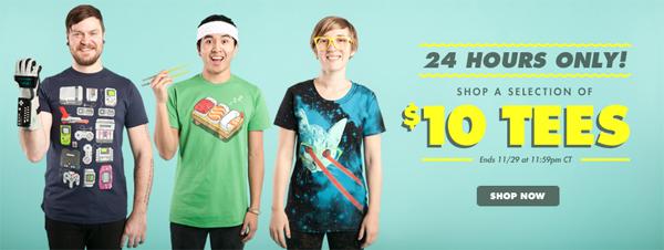 Sale bei Threadless mit T-Shirts ab je 10 $ (7,29 €) *Update* jetzt mit Shirts ab 7,95 $ (5,80 €)