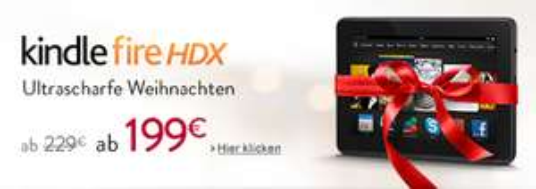 Amazon: Multimedia-Tablet Kindle Fire HDX 7 (16 GB, WiFi) ab sofort für 199 € - 13% sparen