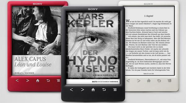 eBook-Reader Sony PRS-T3S + 3 Bücher für 59,95 € - 40% Ersparnis