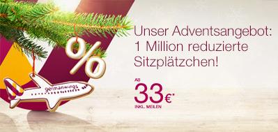 Germanwings: europaweite One-Way-Flüge ab 33 € - bis Sonntag buchbar