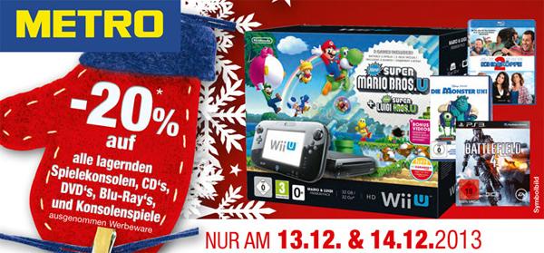 Metro Österreich: 20% Rabatt auf Spielkonsolen am 13. und 14. Dezember