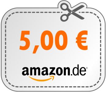 Hammer! Echter 5 € Amazon Gutschein mit 25 € Mindestbestellwert