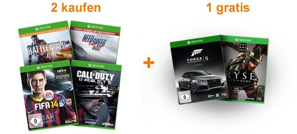 Top! 2 Spiele für die Xbox One kaufen, 1 weiteres gratis erhalten
