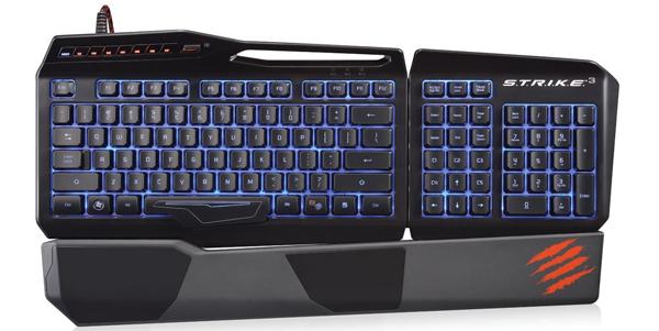 Gaming-Tastatur Mad Catz S.T.R.I.K.E.3 für 68,99 € *Update* jetzt bis zu 22% sparen