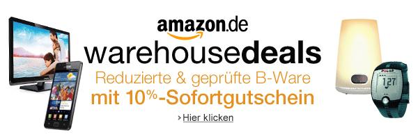 Top! 10% Zusatzrabatt auf die Amazon Warehousedeals - bis 31. Dezember