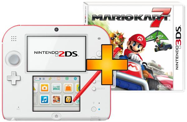 Top! Nintendo 2DS + Mario Kart 7 ab 109 € - bis zu 31% sparen *Update* jetzt auch bei Amazon
