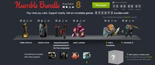 The Humble Bundle for PC & Android 8 mit Games zum selbstgewählten Preis - z.B. Geminie Rue oder Anomaly 2