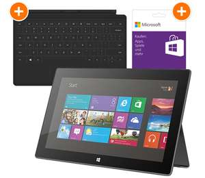 Microsoft Surface RT (64 GB) + Touch Cover + 10 € Gutschein für 307,89 € *Update*