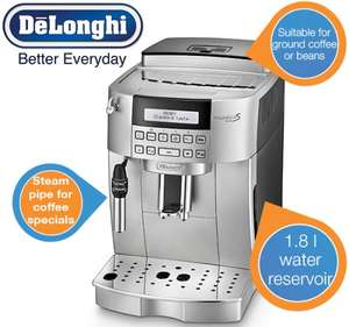 Kaffeevollautomat DeLonghi ECAM 22.320.SB Magnifica S für 408,90 € - 27% Ersparnis