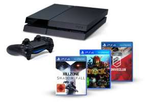 PS4 + Killzone: Shadow Fall + Knack + DriveClub für 499€