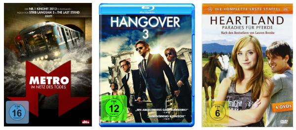 DVD und Blu-ray Angebote der Woche bei Amazon z.B. Hangover 3 (Blu-ray) für 8,97 €