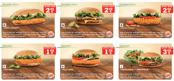 Neues Gutscheinheft für Burger King Österreich – bis 28. Februar gültig