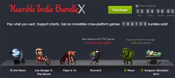 The Humble Indie Bundle X mit Spielen zum selbstgewählten Preis