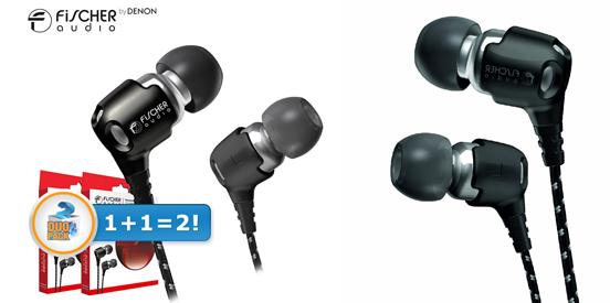 2er-Pack In-Ear-Ohrhörer Fischer Audio Consonance für 45,90 € - 30% sparen