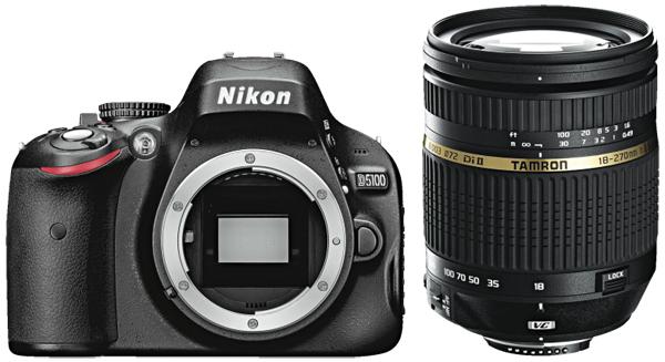 Digitale Spiegelreflexkamera Nikon D5100 mit 18-55 mm + 55-200 mm-Objektiv für 503,99 € statt 569,99 €
