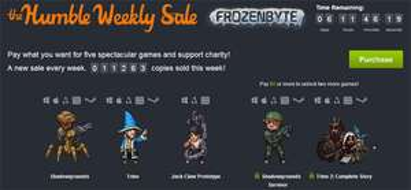 The Humble Weekly Sale mit Spielen von Frozenbyte - Shadowgrounds oder Trine