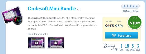 OndeSoft Mini-Bundle mit 9 nützlichen Mac-Apps für $ 10 - 95% günstiger