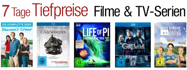 7 Tage Tiefpreise mit Filmen und TV-Serien bei Amazon - mit Blu-rays ab 6,97 €