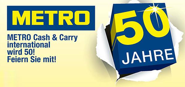 50 Jahre Metro: Jubiläumsprospekt mit guten Angeboten - u.a. Nintendo 3DS XL mit 30% Rabatt