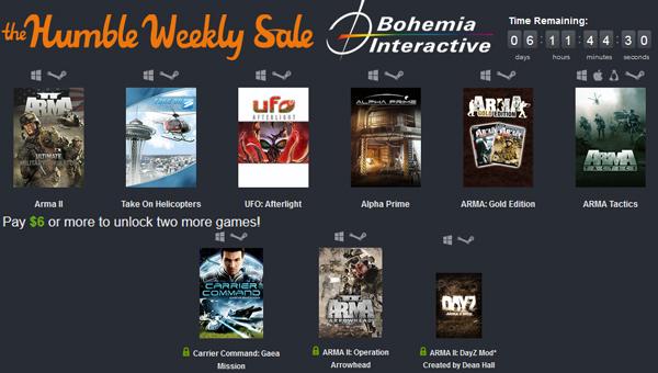 The Humble Weekly Sale mit Spielen von Bohemia Interactive - z.B. ARMA II oder UFO: Afterlight