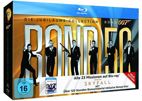 James Bond 007: Die Jubiläums-Collection inkl. Skyfall (24 Blu-ray) für 99,97 € - 17% sparen