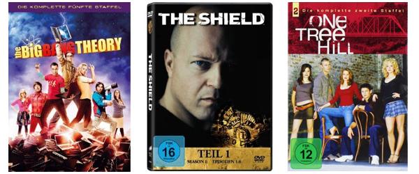 Film- und Serienangebote bei Amazon - z.B. 2 TV-Serien-Staffeln für 20 € oder 3 Blu-rays für 20 €