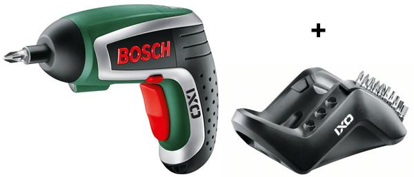 Bosch Akkuschrauber IXO IV mit 10 Bits und Ladegerät für 34,45 € - 23% sparen