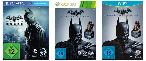 Batman: Arkham Origins (3DS, PSV, Xbox 360, PC, Wii U, PS3) für je 20 € bei Müller