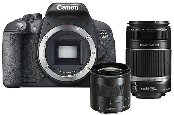 Saturn AT: Canon EOS 700D mit 18-55 mm und 55-250 mm Objektiv für 699 € (+ 50 € Cashback)