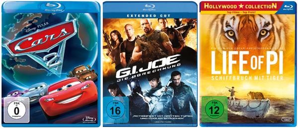 Gute Film-Angebote bei Media Markt und Konter von Amazon - Blu-rays ab 6,26 €