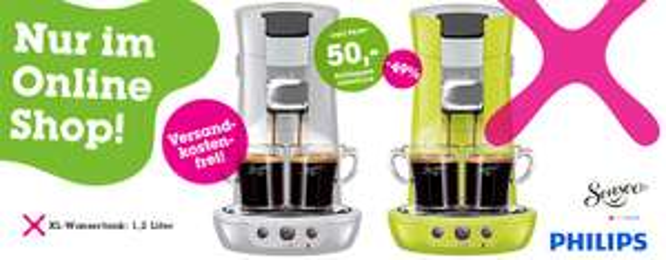 Kaffeepadmaschine Philips Senseo Viva HD für 40 € bei Mömax - 46% Ersparnis