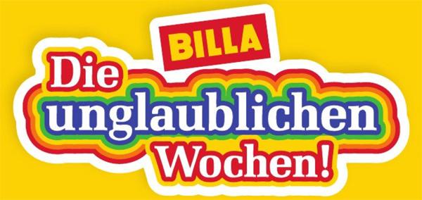"""""""Die unglaublichen Wochen"""" bei Billa: 2 Artikel kaufen, einen gratis erhalten"""