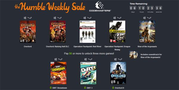 The Humble Weekly Sale mit Spielen von Codemasters - z.B. Overlord oder DiRT 3