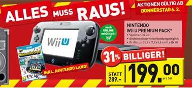 Top! Nintendo Wii U (Premium Pack) für 199 € *Update* jetzt wieder bei Expert!