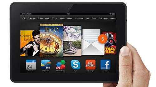 Super! Kindle Fire HDX 7 (16 GB, WiFi) jetzt für nur noch 189 € - 17% Ersparnis