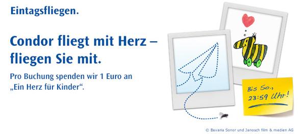 Flugschnäppchen: Eintagsfliegen bei Condor mit One-Way-Flügen ab 49,99 €
