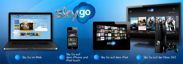 Sky schaltet mobilen Abrufdienst Sky Go ab März für alle Abonnenten frei