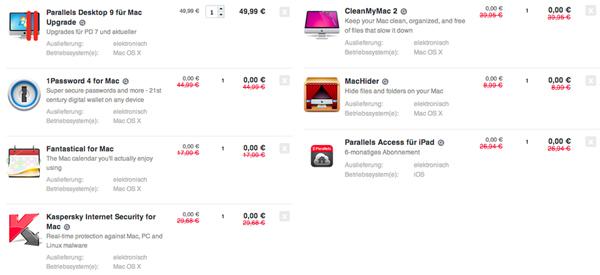 Tolles Mac-Bundle mit Parallels 9, 1Password und 5 weiteren Programmen für 49,99 € - 76% sparen