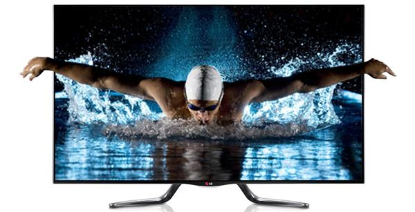 3D-Fernseher LG 47LA7909 (Smart TV, Triple-Tuner, WLAN) für 899 €