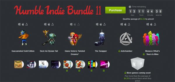 The Humble Indie Bundle 11 mit bis zu sechs Spielen zum selbstgewählten Preis *Update*