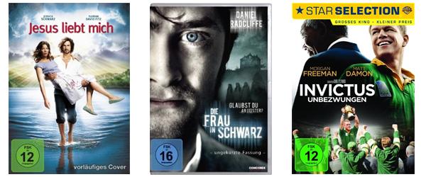 3 Blu-rays für zusammen 20 € oder 4 DVDs für 20 € bei Amazon