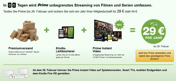 """Amazon startet Videostreaming """"Prime Instant Video"""" kommende Woche in Deutschland"""