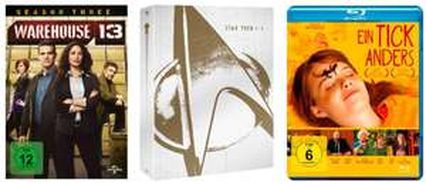 DVD und Blu-ray Angebote der Woche bei Amazon z.B. Star Trek I-X Box für 89,97 €