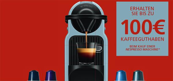Nespresso: bis zu 100 € Cashback beim Kauf ausgewählter Maschinen *Update*