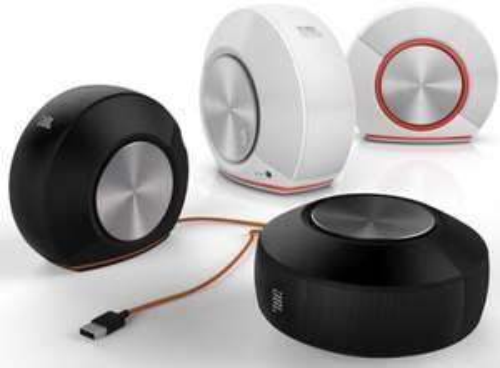 Stereo-Lautsprecher JBL Pebbles (schwarz, weiß, weiß/orange) um 35 € - bis zu 41% sparen